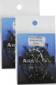 Anzol Arsenal Off Set EWG 2/0 10pcs