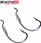 Anzol Monster 3X Off Set Lastreado 3/0 2,5g